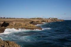Kap North Point auf der Insel von Barbados Stockfotos