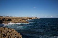 Kap North Point auf der Insel von Barbados Lizenzfreies Stockbild