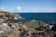 Kap North Point auf der Insel von Barbados Stockbilder
