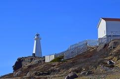 Kap-Stangenleuchtturm auf die Klippe Lizenzfreies Stockfoto