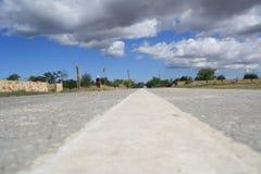 Kap Tarkhankut-Straße Lizenzfreies Stockbild