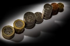 Kap-Verde Münzen 250, 100, 50, 20, 10, 5, 1 stockfoto