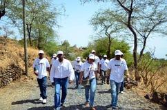 Kap Verdepolitisk kampanj Royaltyfri Foto
