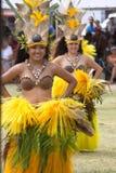 Kapa'a海滩公园, Kapaa,考艾岛,夏威夷- 2010年8月1日:年轻 免版税库存照片