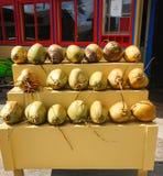Kapaa, Kauai, Χαβάη - 10 Μαΐου - 2017: οι καρύδες και άλλα φρούτα είναι έτσι στοκ εικόνα με δικαίωμα ελεύθερης χρήσης
