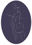 Kapacitet av den burleska konstnären Royaltyfria Bilder