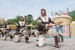 Kapacitet av KORITEVEN - helhet för Kamchatka nationell ungdomdans Royaltyfria Bilder