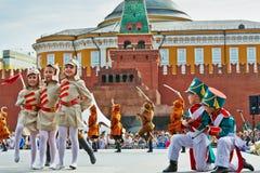 Kapacitet för barnpop-grupp Multicase konsert Royaltyfri Fotografi