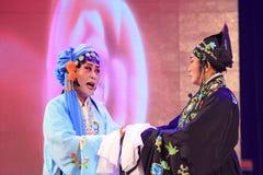 Kapacitet för kinesPingju opera i en teater fotografering för bildbyråer