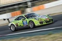 Kapacitet för lag HRT Porsche 991 kopp 24 timmar av Barcelona Fotografering för Bildbyråer