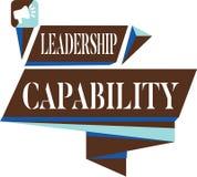 Kapacitet för ledarskap för textteckenvisning Begreppsmässigt foto en vilken ledare kan bygga kapacitet att leda effektivt stock illustrationer