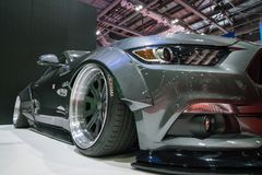 Kapacitet Ford Mustang Close Up Shot royaltyfri foto