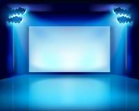 Kapacitet i teatern också vektor för coreldrawillustration stock illustrationer