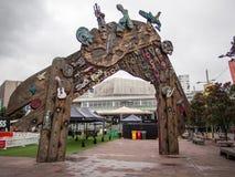 Kapacitet som malas nära det Auckland stadshuset, Nya Zeeland Fotografering för Bildbyråer