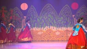 Kapacitet Sydkorea Seoul för traditionell dans lager videofilmer