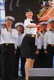 Kapaciteten av dansare, kör och solister av helheten av sången och dans av Black Sea den sjö- flottan (Sevastopol, Krim Royaltyfri Bild