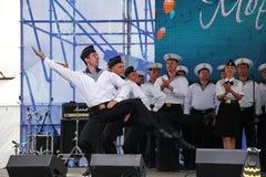 Kapaciteten av dansare, kör och solister av helheten av sången och dans av Black Sea den sjö- flottan (Sevastopol, Krim Royaltyfri Foto