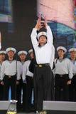 Kapaciteten av dansare, kör och solister av helheten av sången och dans av Black Sea den sjö- flottan (Sevastopol, Krim Arkivbild
