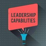 Kapaciteter för ledarskap för textteckenvisning Begreppsmässig fotouppsättning av kapacitetsförväntningar en ledare Competency royaltyfri illustrationer