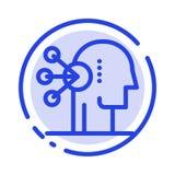 Kapaciteter sortiment, koncentration, mänsklig blå prickig linje linje symbol stock illustrationer