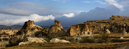 kapadokian βράχοι στοκ εικόνες