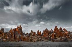 kapadokian rocks Royaltyfria Foton
