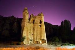Kapadokian rocks. Against the night background Stock Photo