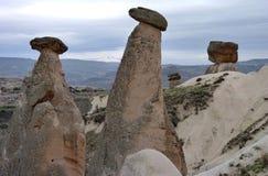 Kapadokya Capadoccia geografi och arkitektur royaltyfri fotografi