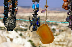 Kapadokya medallions. Buy souvenirs from Kapadokya Turkey royalty free stock image