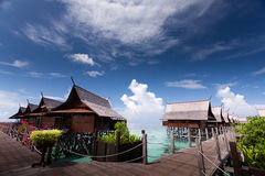 Kapalai Resort. Which is located in Semporna Sabah Stock Photos