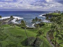Kapalua fjärd Maui Hawaii Arkivbilder