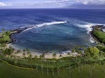 Kapalua zatoka Maui Hawaje obraz royalty free