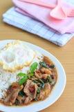 Kapao mu (thailändsk mat) Royaltyfri Bild