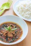 Kapao mu (thailändsk mat) Royaltyfri Foto