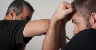 Kapap instructor demonstrates fighting techniques Royalty Free Stock Photography