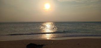Kapas solnedgång arkivbild