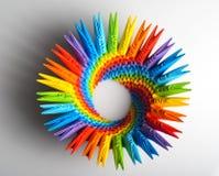Kapazität des Origami Regenbogens 3d Stockbild