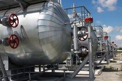 Kapazitäten mit verflüssigtem Gas Stockbild