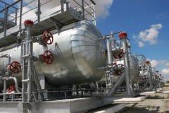 Kapazitäten mit verflüssigtem Gas Stockfotografie