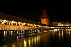 Kapel-brug in Luzerne Royalty-vrije Stock Foto's