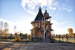 Kapel in de begraafplaats royalty-vrije stock afbeeldingen