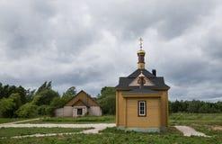 Kapel door Meer Peipus, Estland Royalty-vrije Stock Afbeelding