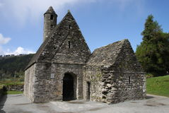 Kapel in Glendalough Stock Foto's