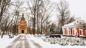 Kapel-graf van het Museum van Paskevich en Vetka-van Oude Gelovigen en Witrussische tradities in Gomel, Wit-Rusland Royalty-vrije Stock Foto's
