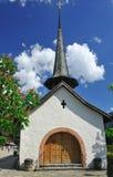 Kapel in Gstaad stock fotografie