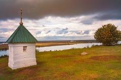 Kapel in Konstantinovo, het gebied van Moskou, Rusland royalty-vrije stock fotografie