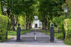 Kapel in Nora Graveyard, Zweden stock foto