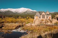 Kapel op de Rots dichtbij Estes Park in Colorado Royalty-vrije Stock Afbeeldingen