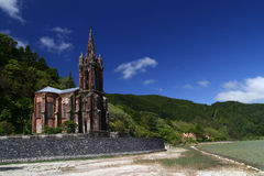 Kapel op het Eilandsao Miguel van Portugal Stock Foto's