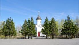 Kapel in Park van Overwinning Day.Omsk.Russia. Royalty-vrije Stock Foto's